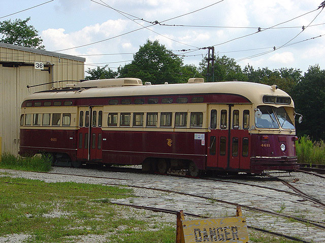 (135k, 640x480)<br><b>Country:</b> Canada<br><b>City:</b> Toronto<br><b>System:</b> Halton County Radial Railway <br><b>Car:</b> PCC (TTC Toronto) 4611 <br><b>Photo by:</b> Michael Tricarico<br><b>Date:</b> 8/16/2004<br><b>Viewed (this week/total):</b> 0 / 2883