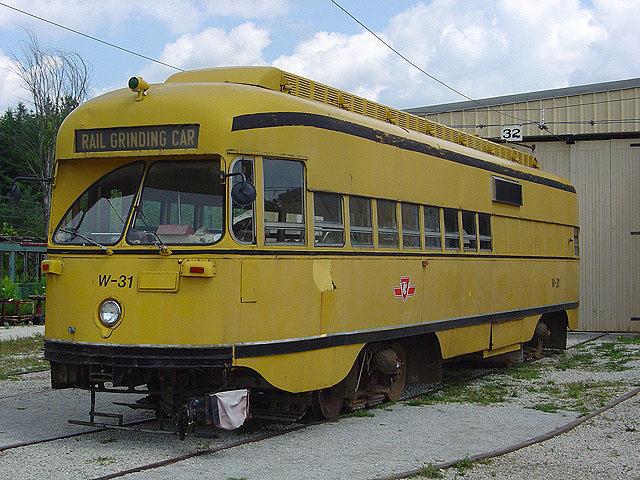 (129k, 640x480)<br><b>Country:</b> Canada<br><b>City:</b> Toronto<br><b>System:</b> Halton County Radial Railway <br><b>Car:</b> PCC (TTC Toronto) W-31 (ex-4668)<br><b>Photo by:</b> Michael Tricarico<br><b>Date:</b> 8/16/2004<br><b>Viewed (this week/total):</b> 3 / 2519