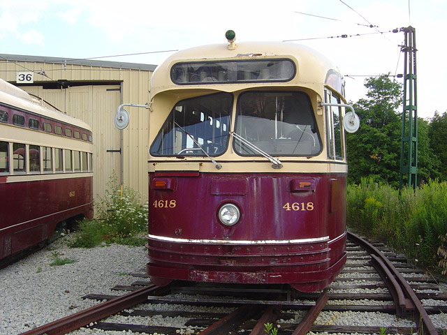 (119k, 640x480)<br><b>Country:</b> Canada<br><b>City:</b> Toronto<br><b>System:</b> Halton County Radial Railway <br><b>Car:</b> PCC (TTC Toronto) 4618 <br><b>Photo by:</b> Michael Tricarico<br><b>Date:</b> 8/16/2004<br><b>Viewed (this week/total):</b> 2 / 2760