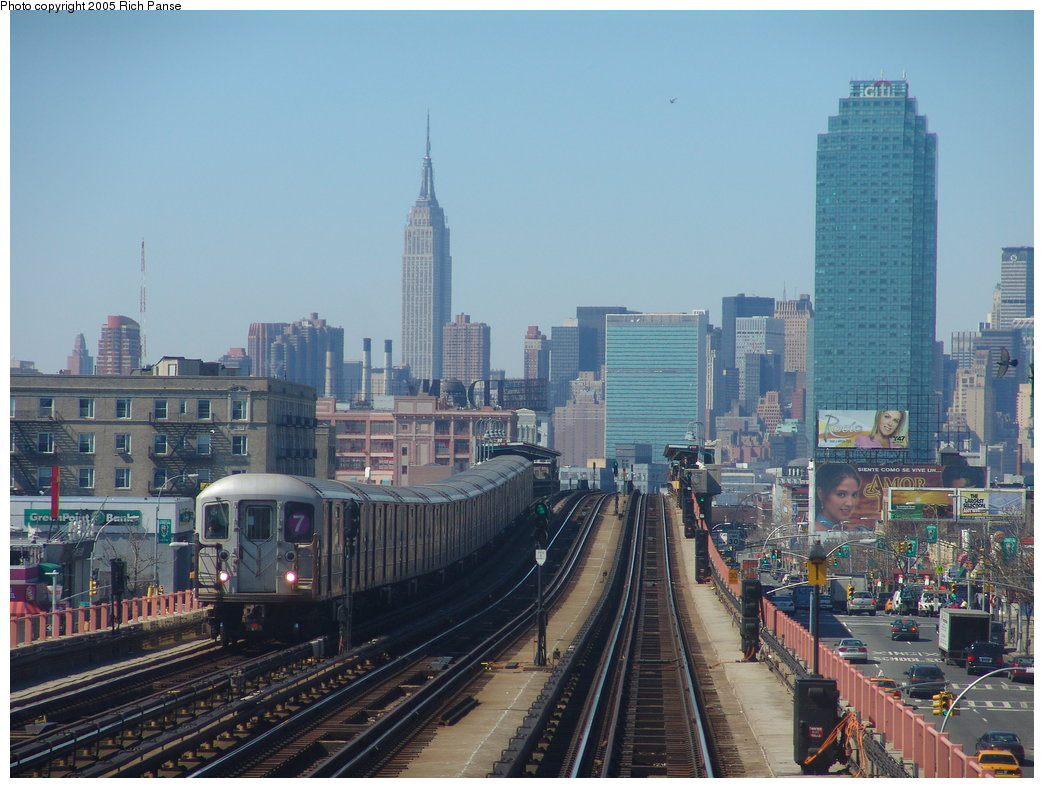 (188k, 1044x788)<br><b>Country:</b> United States<br><b>City:</b> New York<br><b>System:</b> New York City Transit<br><b>Line:</b> IRT Flushing Line<br><b>Location:</b> 46th Street/Bliss Street <br><b>Photo by:</b> Richard Panse<br><b>Date:</b> 3/15/2005<br><b>Viewed (this week/total):</b> 2 / 5332