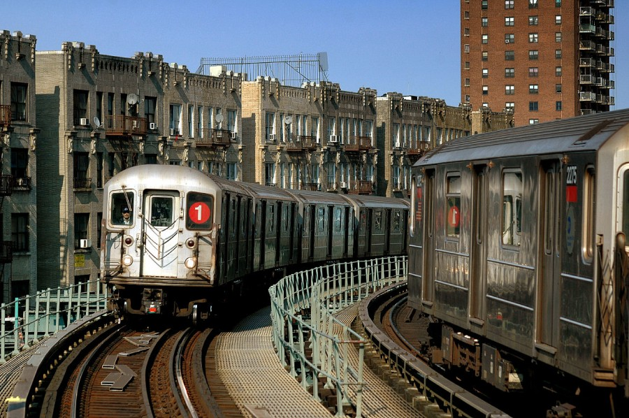 (205k, 900x598)<br><b>Country:</b> United States<br><b>City:</b> New York<br><b>System:</b> New York City Transit<br><b>Line:</b> IRT West Side Line<br><b>Location:</b> Dyckman Street <br><b>Route:</b> 1<br><b>Car:</b> R-62A (Bombardier, 1984-1987)  2275 <br><b>Photo by:</b> Fred Guenther<br><b>Date:</b> 3/19/2005<br><b>Viewed (this week/total):</b> 1 / 4955