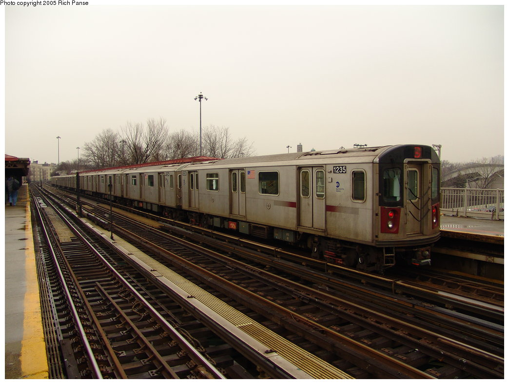 (177k, 1044x788)<br><b>Country:</b> United States<br><b>City:</b> New York<br><b>System:</b> New York City Transit<br><b>Line:</b> IRT Woodlawn Line<br><b>Location:</b> Bedford Park Boulevard <br><b>Route:</b> 4<br><b>Car:</b> R-142 (Option Order, Bombardier, 2002-2003)  1235 <br><b>Photo by:</b> Richard Panse<br><b>Date:</b> 3/20/2005<br><b>Viewed (this week/total):</b> 0 / 3760