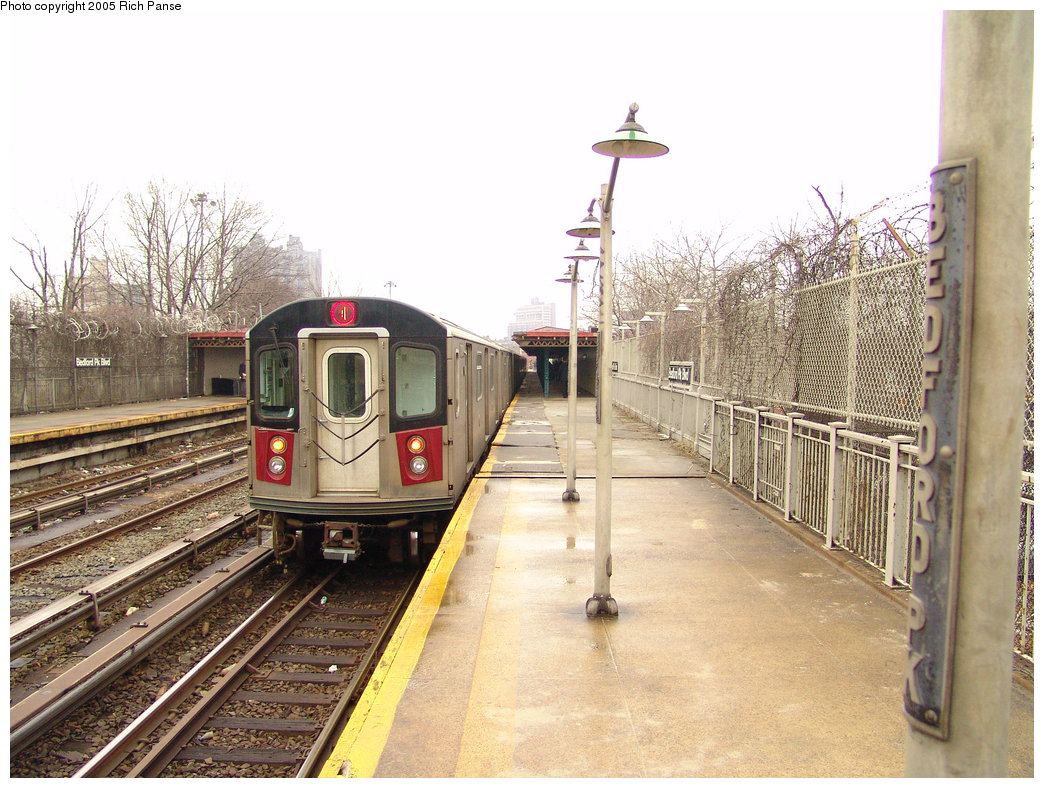 (223k, 1044x788)<br><b>Country:</b> United States<br><b>City:</b> New York<br><b>System:</b> New York City Transit<br><b>Line:</b> IRT Woodlawn Line<br><b>Location:</b> Bedford Park Boulevard <br><b>Route:</b> 4<br><b>Car:</b> R-142 or R-142A (Number Unknown)  <br><b>Photo by:</b> Richard Panse<br><b>Date:</b> 3/20/2005<br><b>Viewed (this week/total):</b> 7 / 3373