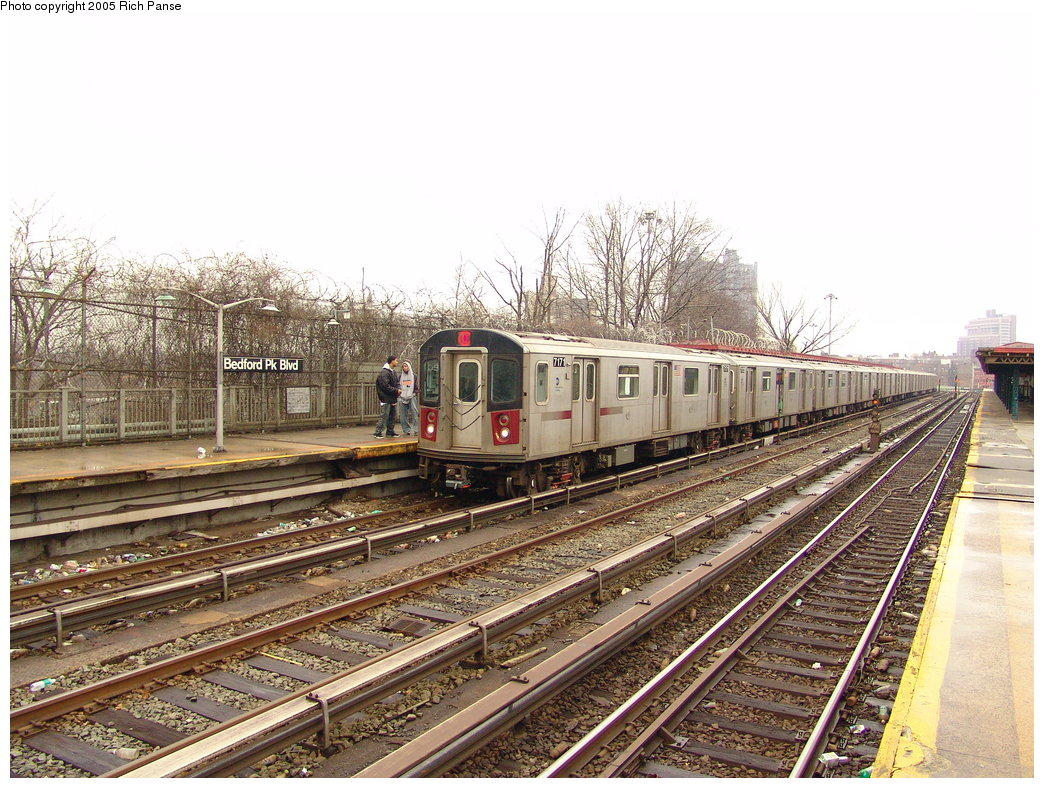 (246k, 1044x788)<br><b>Country:</b> United States<br><b>City:</b> New York<br><b>System:</b> New York City Transit<br><b>Line:</b> IRT Woodlawn Line<br><b>Location:</b> Bedford Park Boulevard <br><b>Route:</b> 4<br><b>Car:</b> R-142 (Option Order, Bombardier, 2002-2003)  7171 <br><b>Photo by:</b> Richard Panse<br><b>Date:</b> 3/20/2005<br><b>Viewed (this week/total):</b> 2 / 3289