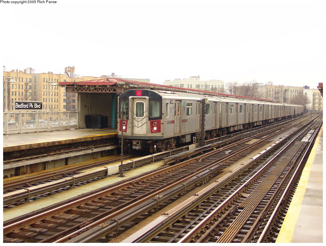 (235k, 1044x788)<br><b>Country:</b> United States<br><b>City:</b> New York<br><b>System:</b> New York City Transit<br><b>Line:</b> IRT Woodlawn Line<br><b>Location:</b> Bedford Park Boulevard <br><b>Route:</b> 4<br><b>Car:</b> R-142 (Option Order, Bombardier, 2002-2003)  7141 <br><b>Photo by:</b> Richard Panse<br><b>Date:</b> 3/20/2005<br><b>Viewed (this week/total):</b> 0 / 2859