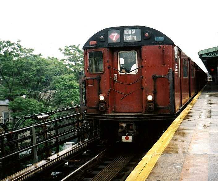 (52k, 705x586)<br><b>Country:</b> United States<br><b>City:</b> New York<br><b>System:</b> New York City Transit<br><b>Line:</b> IRT Brooklyn Line<br><b>Location:</b> New Lots Avenue <br><b>Route:</b> Fan Trip<br><b>Car:</b> R-33 World's Fair (St. Louis, 1963-64) 9330 <br><b>Photo by:</b> Gary Chatterton<br><b>Date:</b> 6/7/2003<br><b>Viewed (this week/total):</b> 4 / 4292