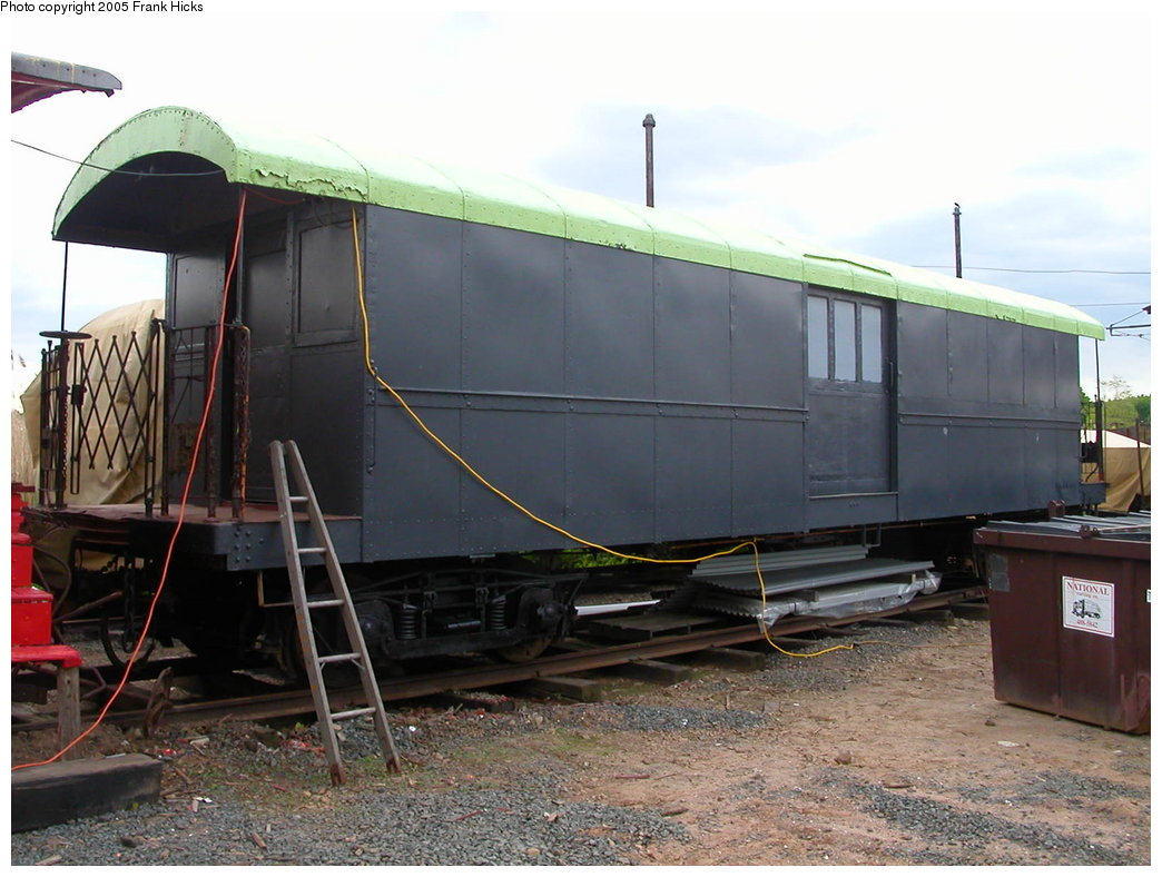 (192k, 1044x788)<br><b>Country:</b> United States<br><b>City:</b> East Haven/Branford, Ct.<br><b>System:</b> Shore Line Trolley Museum <br><b>Car:</b> IRT Supply Car (Pressed Steel, 1906)  53 (ex-30127)<br><b>Photo by:</b> Frank Hicks<br><b>Date:</b> 5/21/2005<br><b>Viewed (this week/total):</b> 1 / 1836