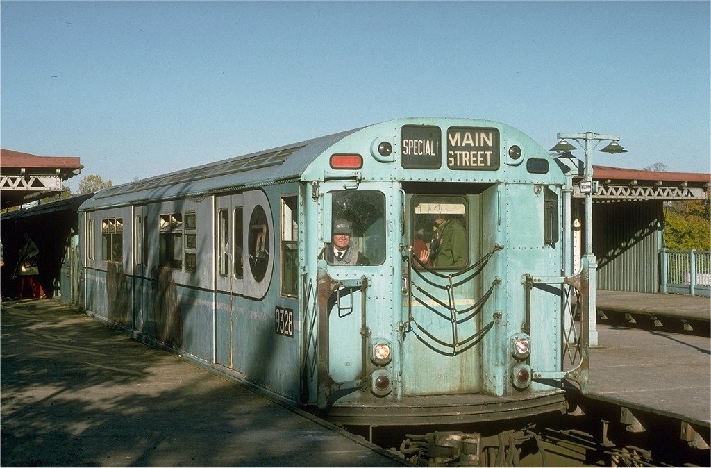 (186k, 1024x674)<br><b>Country:</b> United States<br><b>City:</b> New York<br><b>System:</b> New York City Transit<br><b>Line:</b> IRT Woodlawn Line<br><b>Location:</b> Woodlawn <br><b>Route:</b> Fan Trip<br><b>Car:</b> R-33 World's Fair (St. Louis, 1963-64) 9328 <br><b>Photo by:</b> Joe Testagrose<br><b>Date:</b> 10/27/1974<br><b>Viewed (this week/total):</b> 1 / 3420
