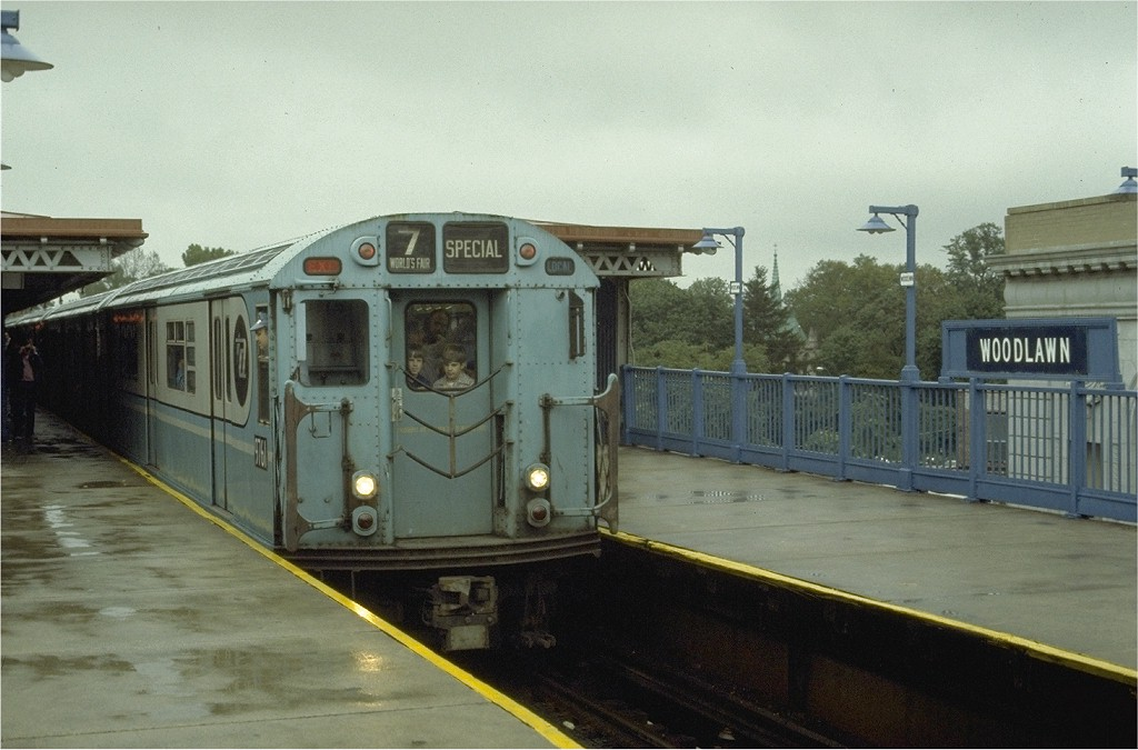 (167k, 1024x675)<br><b>Country:</b> United States<br><b>City:</b> New York<br><b>System:</b> New York City Transit<br><b>Line:</b> IRT Woodlawn Line<br><b>Location:</b> Woodlawn <br><b>Route:</b> Fan Trip<br><b>Car:</b> R-36 World's Fair (St. Louis, 1963-64) 9761 <br><b>Photo by:</b> Joe Testagrose<br><b>Date:</b> 9/24/1977<br><b>Viewed (this week/total):</b> 4 / 4416