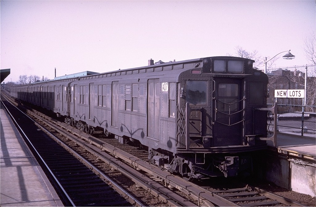 (211k, 1024x671)<br><b>Country:</b> United States<br><b>City:</b> New York<br><b>System:</b> New York City Transit<br><b>Line:</b> BMT Canarsie Line<br><b>Location:</b> New Lots Avenue <br><b>Route:</b> LL<br><b>Car:</b> R-9 (American Car & Foundry, 1940)  A07 (ex-1753)<br><b>Photo by:</b> Doug Grotjahn<br><b>Collection of:</b> Joe Testagrose<br><b>Date:</b> 4/13/1969<br><b>Viewed (this week/total):</b> 0 / 2407