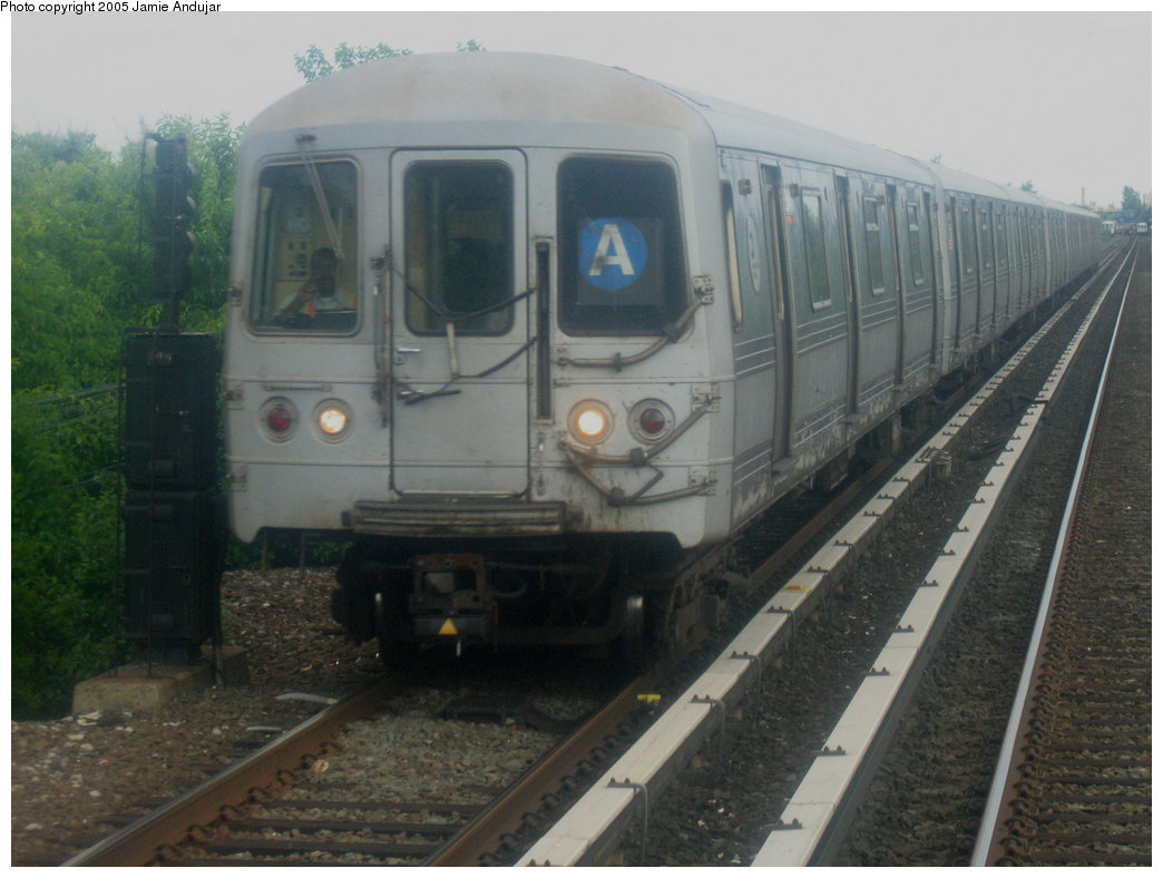 (166k, 1044x788)<br><b>Country:</b> United States<br><b>City:</b> New York<br><b>System:</b> New York City Transit<br><b>Line:</b> IND Rockaway<br><b>Location:</b> Jamaica Bay Crossing<br><b>Route:</b> A<br><b>Car:</b> R-44 (St. Louis, 1971-73)  <br><b>Photo by:</b> Professor J<br><b>Date:</b> 6/17/2005<br><b>Viewed (this week/total):</b> 3 / 3862