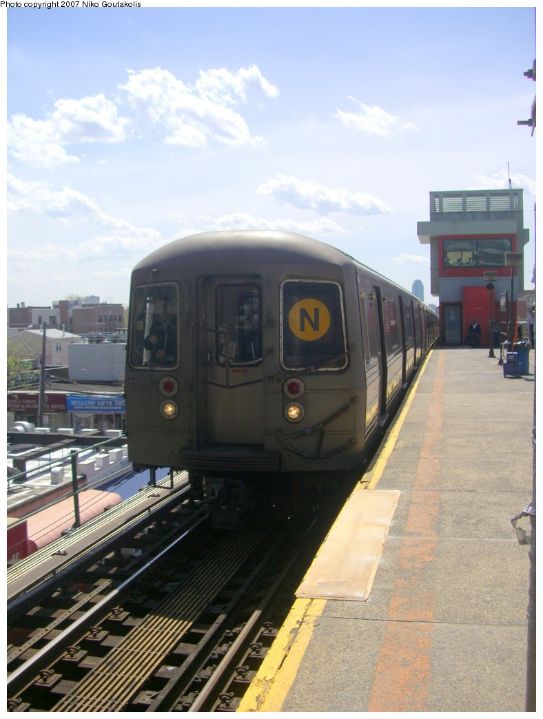 (174k, 788x1044)<br><b>Country:</b> United States<br><b>City:</b> New York<br><b>System:</b> New York City Transit<br><b>Line:</b> BMT Astoria Line<br><b>Location:</b> Ditmars Boulevard <br><b>Route:</b> N<br><b>Car:</b> R-68/R-68A Series (Number Unknown)  <br><b>Photo by:</b> Niko Goutakolis<br><b>Date:</b> 4/30/2007<br><b>Viewed (this week/total):</b> 3 / 3264