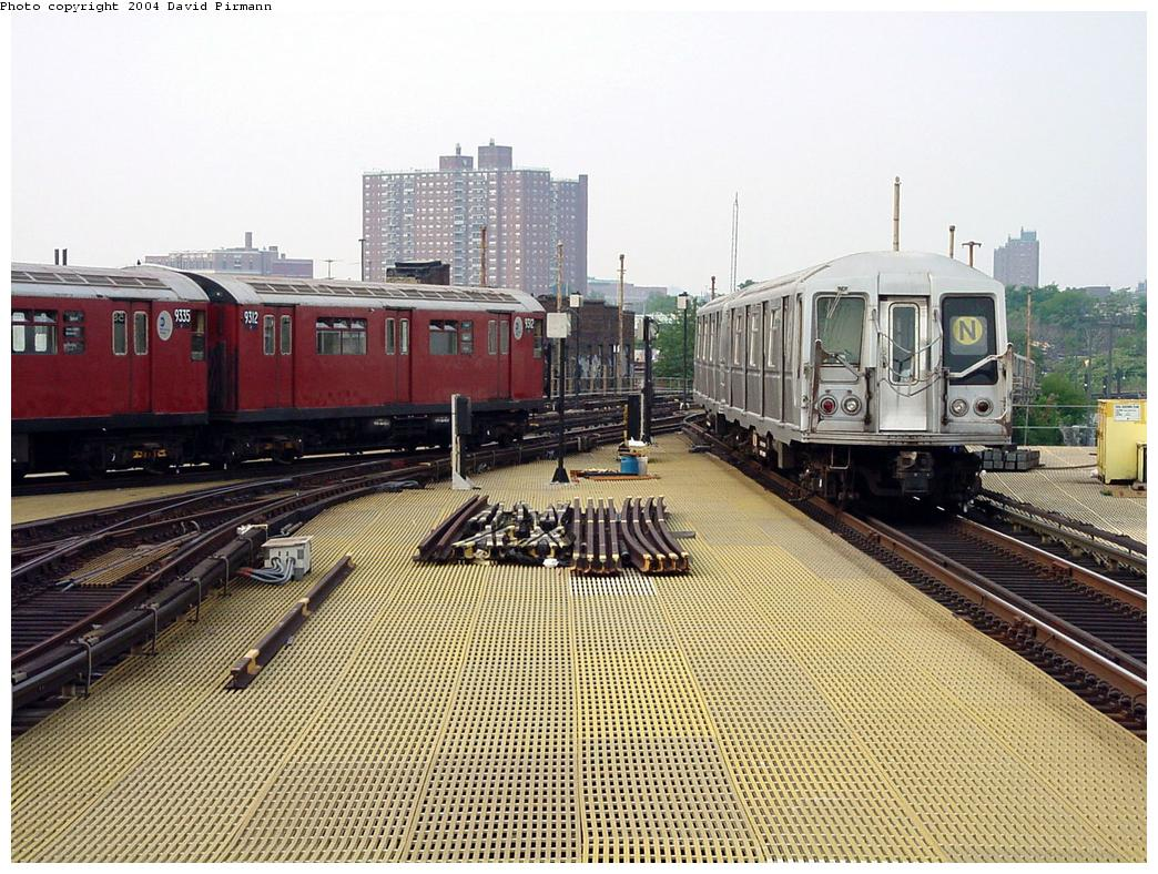 (181k, 1044x788)<br><b>Country:</b> United States<br><b>City:</b> New York<br><b>System:</b> New York City Transit<br><b>Location:</b> Coney Island/Stillwell Avenue<br><b>Route:</b> Fan Trip<br><b>Car:</b> R-33 World's Fair (St. Louis, 1963-64) 9312 <br><b>Photo by:</b> David Pirmann<br><b>Date:</b> 8/27/2000<br><b>Viewed (this week/total):</b> 5 / 4923