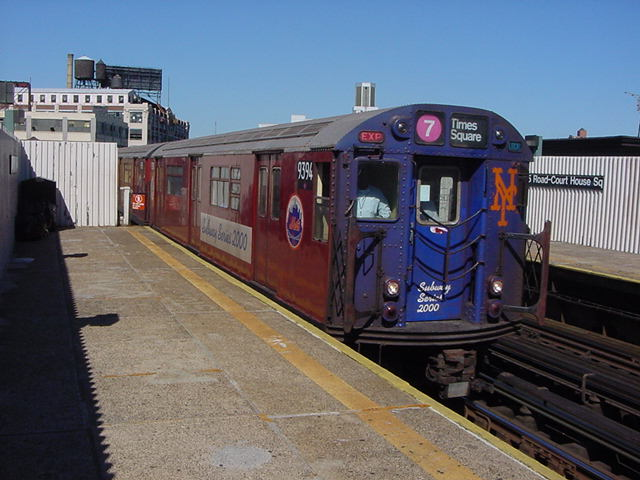(61k, 640x480)<br><b>Country:</b> United States<br><b>City:</b> New York<br><b>System:</b> New York City Transit<br><b>Line:</b> IRT Flushing Line<br><b>Location:</b> Court House Square/45th Road <br><b>Route:</b> 7<br><b>Car:</b> R-36 World's Fair (St. Louis, 1963-64) 9394 <br><b>Photo by:</b> Salaam Allah<br><b>Date:</b> 9/17/2002<br><b>Viewed (this week/total):</b> 1 / 6026