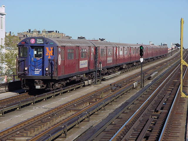 (60k, 640x480)<br><b>Country:</b> United States<br><b>City:</b> New York<br><b>System:</b> New York City Transit<br><b>Line:</b> IRT Flushing Line<br><b>Location:</b> 33rd Street/Rawson Street <br><b>Route:</b> 7<br><b>Car:</b> R-36 World's Fair (St. Louis, 1963-64) 9394 <br><b>Photo by:</b> Salaam Allah<br><b>Date:</b> 9/17/2002<br><b>Viewed (this week/total):</b> 3 / 3275