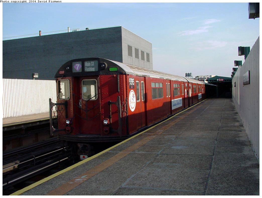(114k, 1044x788)<br><b>Country:</b> United States<br><b>City:</b> New York<br><b>System:</b> New York City Transit<br><b>Line:</b> IRT Flushing Line<br><b>Location:</b> Court House Square/45th Road <br><b>Route:</b> 7<br><b>Car:</b> R-36 World's Fair (St. Louis, 1963-64) 9395 <br><b>Photo by:</b> David Pirmann<br><b>Date:</b> 7/16/2001<br><b>Viewed (this week/total):</b> 0 / 2105