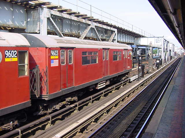 (59k, 640x480)<br><b>Country:</b> United States<br><b>City:</b> New York<br><b>System:</b> New York City Transit<br><b>Line:</b> IRT Flushing Line<br><b>Location:</b> 111th Street <br><b>Route:</b> 7<br><b>Car:</b> R-36 World's Fair (St. Louis, 1963-64) 9603 <br><b>Photo by:</b> Salaam Allah<br><b>Date:</b> 9/21/2002<br><b>Viewed (this week/total):</b> 1 / 4843