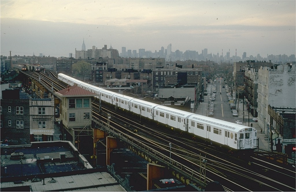 (207k, 1024x665)<br><b>Country:</b> United States<br><b>City:</b> New York<br><b>System:</b> New York City Transit<br><b>Line:</b> IRT Flushing Line<br><b>Location:</b> 69th Street/Fisk Avenue <br><b>Route:</b> 7<br><b>Car:</b> R-36 World's Fair (St. Louis, 1963-64) 9647 <br><b>Photo by:</b> Steve Zabel<br><b>Collection of:</b> Joe Testagrose<br><b>Date:</b> 11/19/1981<br><b>Viewed (this week/total):</b> 3 / 7509