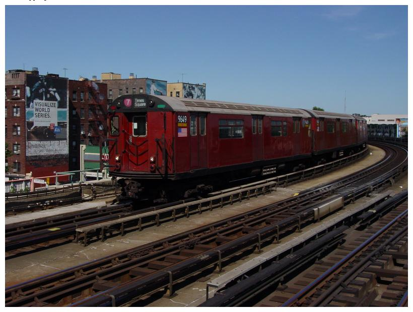 (77k, 820x620)<br><b>Country:</b> United States<br><b>City:</b> New York<br><b>System:</b> New York City Transit<br><b>Line:</b> IRT Flushing Line<br><b>Location:</b> Court House Square/45th Road <br><b>Route:</b> 7<br><b>Car:</b> R-36 World's Fair (St. Louis, 1963-64) 9649 <br><b>Photo by:</b> Salaam Allah<br><b>Date:</b> 9/17/2002<br><b>Viewed (this week/total):</b> 1 / 1735
