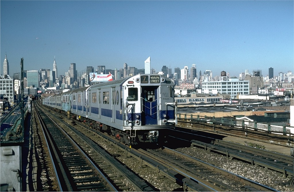 (235k, 1024x669)<br><b>Country:</b> United States<br><b>City:</b> New York<br><b>System:</b> New York City Transit<br><b>Line:</b> IRT Flushing Line<br><b>Location:</b> 40th Street/Lowery Street <br><b>Route:</b> 7<br><b>Car:</b> R-36 World's Fair (St. Louis, 1963-64) 9679 <br><b>Collection of:</b> Joe Testagrose<br><b>Date:</b> 11/3/1981<br><b>Viewed (this week/total):</b> 1 / 4635