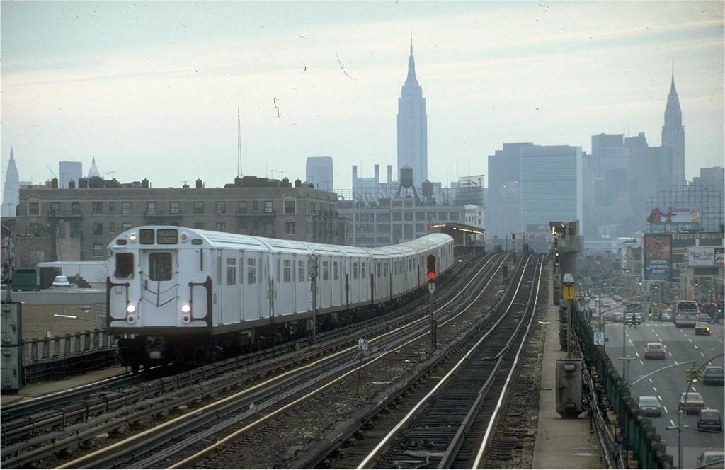(171k, 1024x664)<br><b>Country:</b> United States<br><b>City:</b> New York<br><b>System:</b> New York City Transit<br><b>Line:</b> IRT Flushing Line<br><b>Location:</b> 46th Street/Bliss Street <br><b>Route:</b> 7<br><b>Car:</b> R-36 World's Fair (St. Louis, 1963-64) 9696 <br><b>Photo by:</b> Steve Zabel<br><b>Collection of:</b> Joe Testagrose<br><b>Date:</b> 2/6/1982<br><b>Viewed (this week/total):</b> 0 / 4819