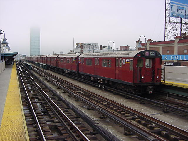 (60k, 640x480)<br><b>Country:</b> United States<br><b>City:</b> New York<br><b>System:</b> New York City Transit<br><b>Line:</b> IRT Flushing Line<br><b>Location:</b> 33rd Street/Rawson Street <br><b>Route:</b> 7<br><b>Car:</b> R-36 World's Fair (St. Louis, 1963-64) 9700 <br><b>Photo by:</b> Salaam Allah<br><b>Date:</b> 9/27/2002<br><b>Viewed (this week/total):</b> 2 / 2106