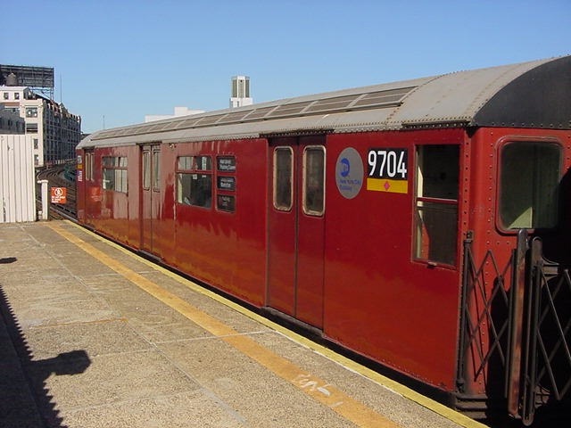 (59k, 640x480)<br><b>Country:</b> United States<br><b>City:</b> New York<br><b>System:</b> New York City Transit<br><b>Line:</b> IRT Flushing Line<br><b>Location:</b> Court House Square/45th Road <br><b>Route:</b> 7<br><b>Car:</b> R-36 World's Fair (St. Louis, 1963-64) 9704 <br><b>Photo by:</b> Salaam Allah<br><b>Date:</b> 9/17/2002<br><b>Viewed (this week/total):</b> 1 / 2643