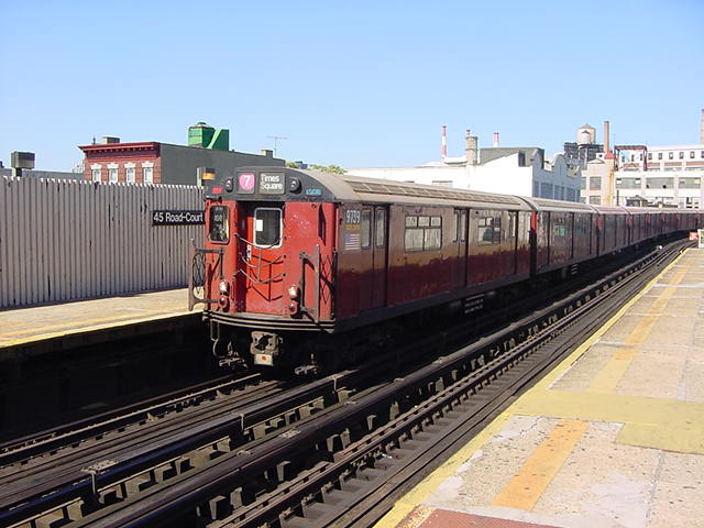 (59k, 640x480)<br><b>Country:</b> United States<br><b>City:</b> New York<br><b>System:</b> New York City Transit<br><b>Line:</b> IRT Flushing Line<br><b>Location:</b> Court House Square/45th Road <br><b>Route:</b> 7<br><b>Car:</b> R-36 World's Fair (St. Louis, 1963-64) 9739 <br><b>Photo by:</b> Salaam Allah<br><b>Date:</b> 9/17/2002<br><b>Viewed (this week/total):</b> 6 / 3755