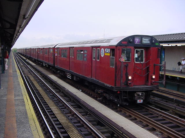 (61k, 640x480)<br><b>Country:</b> United States<br><b>City:</b> New York<br><b>System:</b> New York City Transit<br><b>Line:</b> IRT Flushing Line<br><b>Location:</b> 52nd Street/Lincoln Avenue <br><b>Car:</b> R-36 World's Fair (St. Louis, 1963-64) 9749 <br><b>Photo by:</b> Salaam Allah<br><b>Date:</b> 9/26/2002<br><b>Viewed (this week/total):</b> 3 / 3037