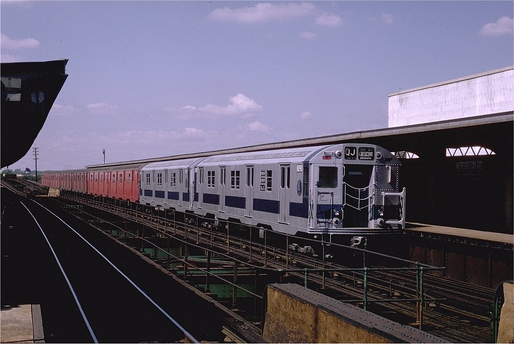 (207k, 1024x685)<br><b>Country:</b> United States<br><b>City:</b> New York<br><b>System:</b> New York City Transit<br><b>Line:</b> BMT Nassau Street/Jamaica Line<br><b>Location:</b> Metropolitan Avenue (Demolished) <br><b>Route:</b> QJ<br><b>Car:</b> R-27 (St. Louis, 1960)  8090 <br><b>Photo by:</b> Joe Testagrose<br><b>Date:</b> 9/6/1970<br><b>Viewed (this week/total):</b> 1 / 3606