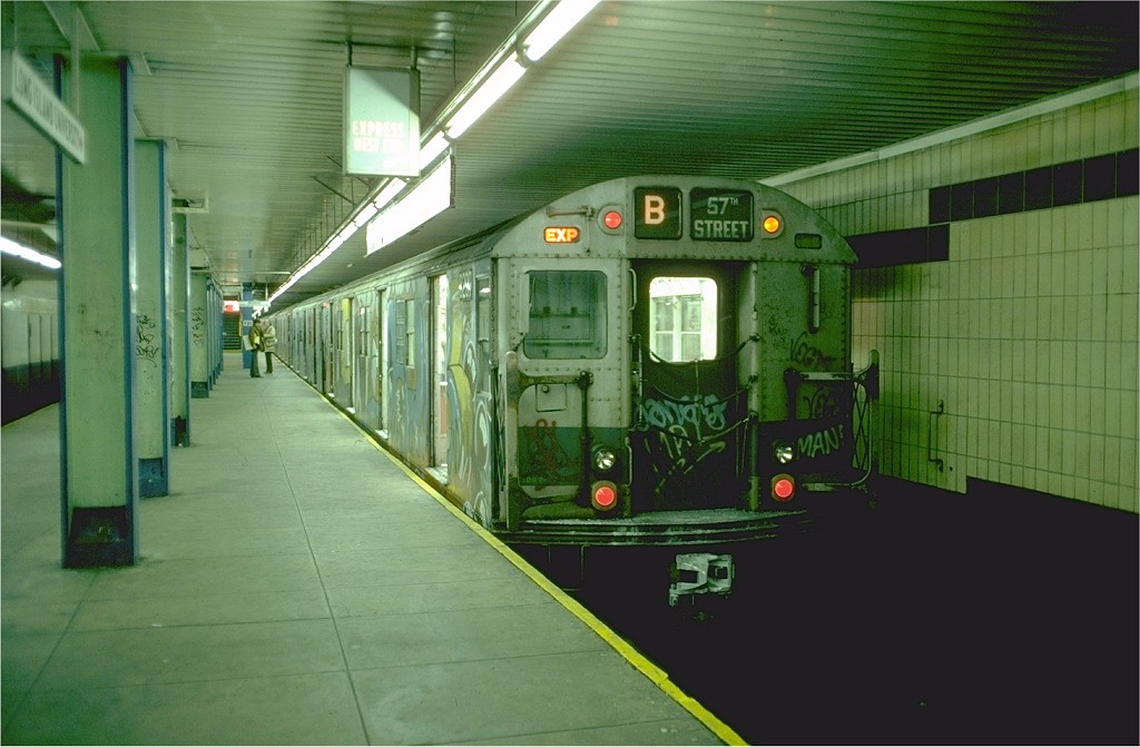 (160k, 1024x671)<br><b>Country:</b> United States<br><b>City:</b> New York<br><b>System:</b> New York City Transit<br><b>Location:</b> DeKalb Avenue<br><b>Route:</b> B<br><b>Car:</b> R-27 (St. Louis, 1960)  8209 <br><b>Photo by:</b> Doug Grotjahn<br><b>Collection of:</b> Joe Testagrose<br><b>Date:</b> 12/5/1976<br><b>Viewed (this week/total):</b> 6 / 5078
