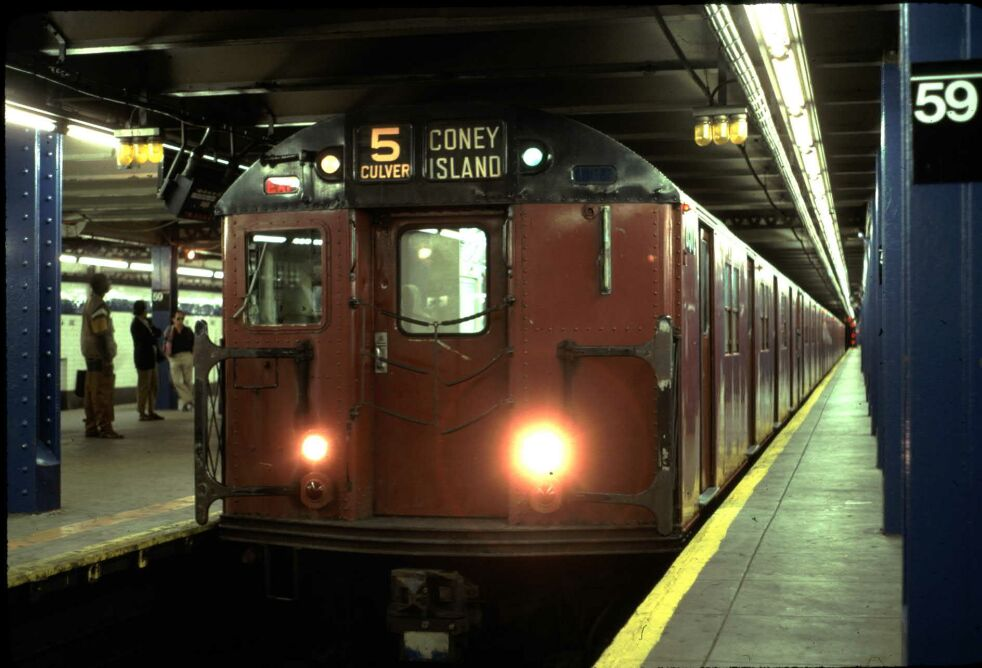 (91k, 982x668)<br><b>Country:</b> United States<br><b>City:</b> New York<br><b>System:</b> New York City Transit<br><b>Line:</b> IND 8th Avenue Line<br><b>Location:</b> 59th Street/Columbus Circle <br><b>Route:</b> Fan Trip<br><b>Car:</b> R-30 (St. Louis, 1961) 8317 <br><b>Photo by:</b> Glenn L. Rowe<br><b>Date:</b> 5/30/1993<br><b>Viewed (this week/total):</b> 0 / 5855