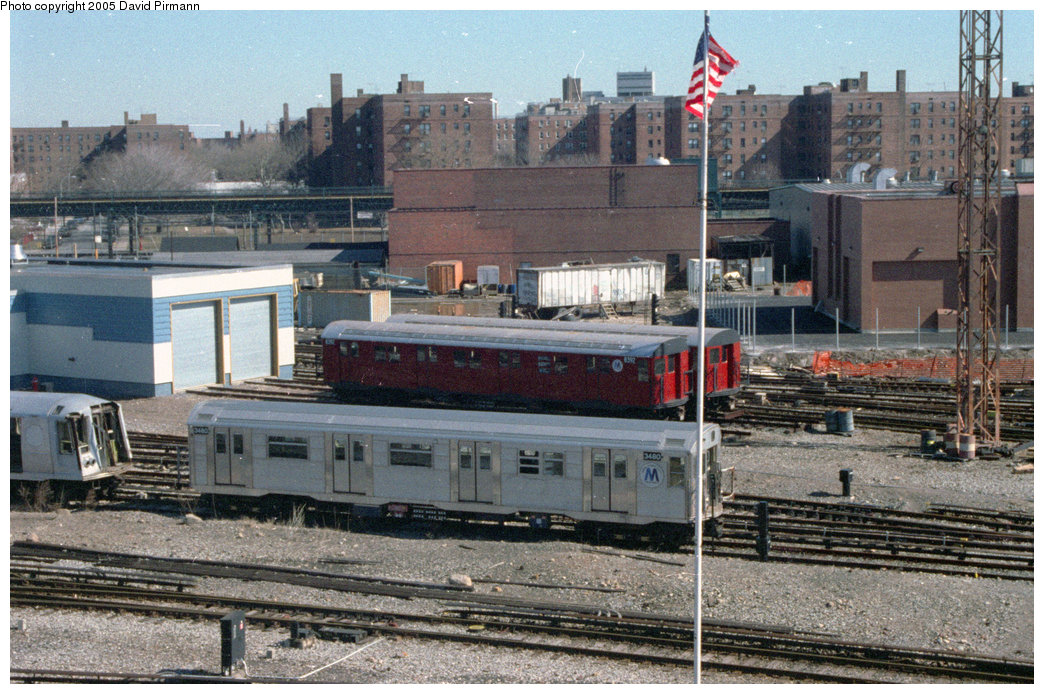 (275k, 1044x694)<br><b>Country:</b> United States<br><b>City:</b> New York<br><b>System:</b> New York City Transit<br><b>Location:</b> Coney Island Yard-Training Facilities<br><b>Car:</b> R-30 (St. Louis, 1961) 8392/8401 <br><b>Photo by:</b> David Pirmann<br><b>Date:</b> 2/24/1996<br><b>Notes:</b> Two R30 cars (8392, 8401) used as Fire School Cars, and R32 3480.<br><b>Viewed (this week/total):</b> 6 / 8219