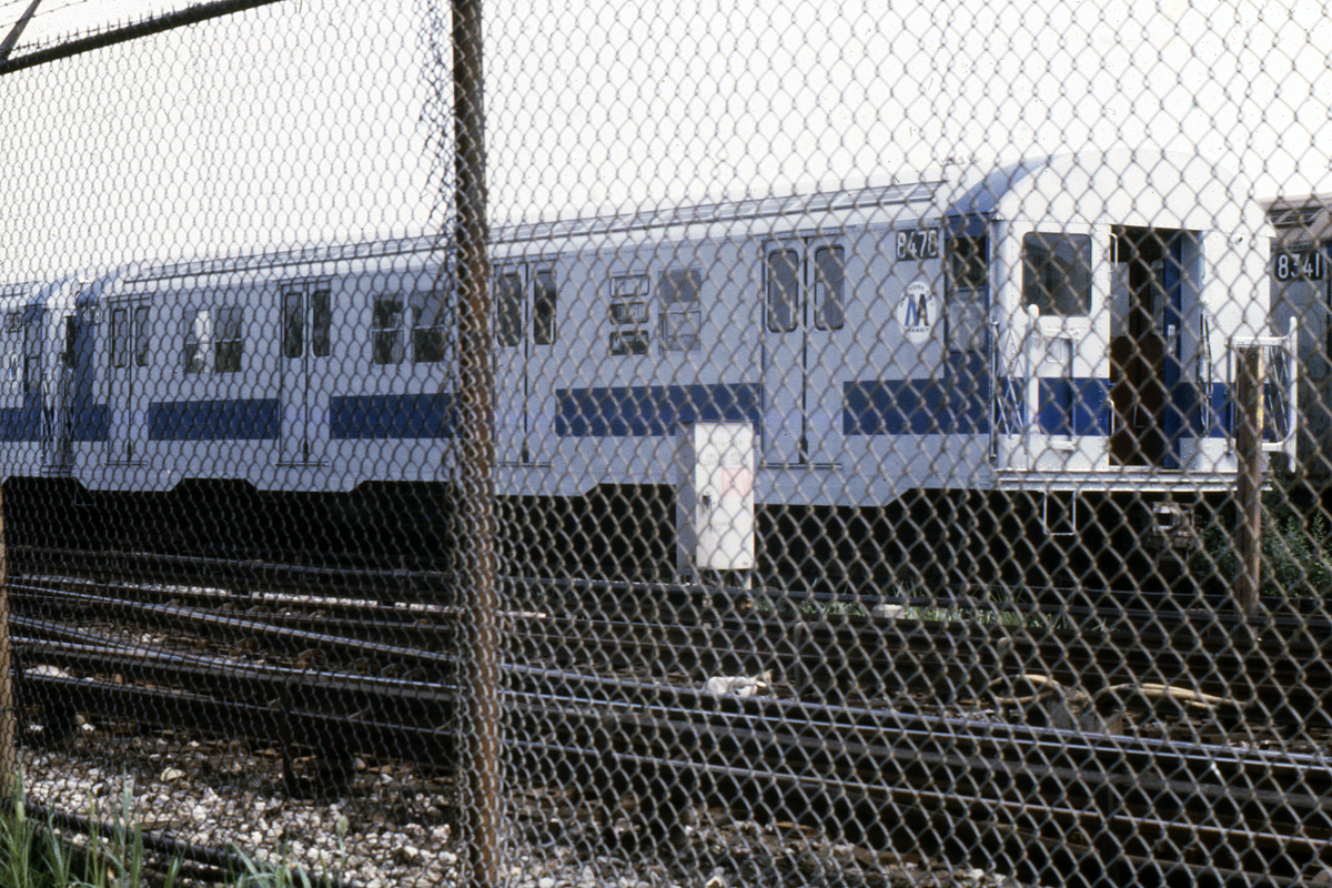 (557k, 1044x710)<br><b>Country:</b> United States<br><b>City:</b> New York<br><b>System:</b> New York City Transit<br><b>Location:</b> Coney Island Yard<br><b>Car:</b> R-30 (St. Louis, 1961) 8475 <br><b>Photo by:</b> Steve Hoskins<br><b>Collection of:</b> David Pirmann<br><b>Date:</b> 8/1979<br><b>Viewed (this week/total):</b> 0 / 2595