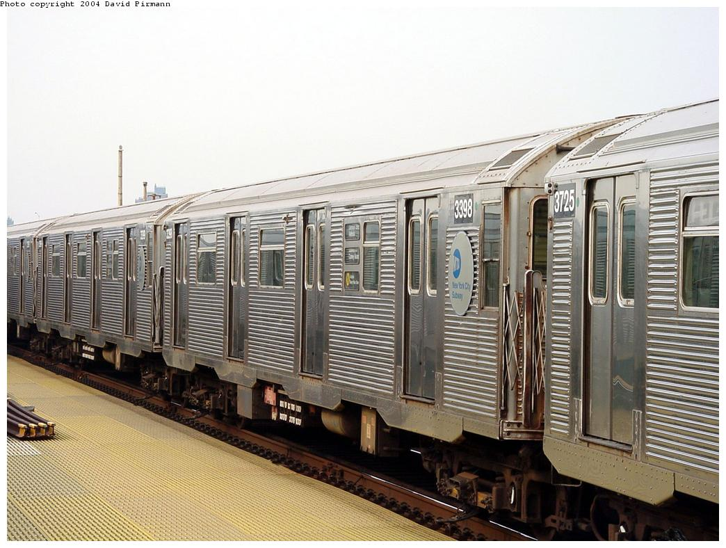 (148k, 1044x788)<br><b>Country:</b> United States<br><b>City:</b> New York<br><b>System:</b> New York City Transit<br><b>Location:</b> Coney Island/Stillwell Avenue<br><b>Route:</b> N<br><b>Car:</b> R-32 (Budd, 1964)  3398 <br><b>Photo by:</b> David Pirmann<br><b>Date:</b> 8/27/2000<br><b>Viewed (this week/total):</b> 1 / 4450