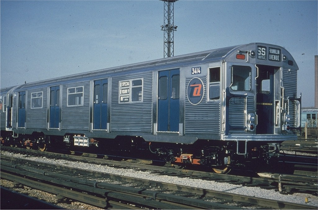 (231k, 1024x675)<br><b>Country:</b> United States<br><b>City:</b> New York<br><b>System:</b> New York City Transit<br><b>Location:</b> Coney Island Yard<br><b>Car:</b> R-32 (Budd, 1964)  3414 <br><b>Collection of:</b> Joe Testagrose<br><b>Date:</b> 10/1964<br><b>Viewed (this week/total):</b> 0 / 3930