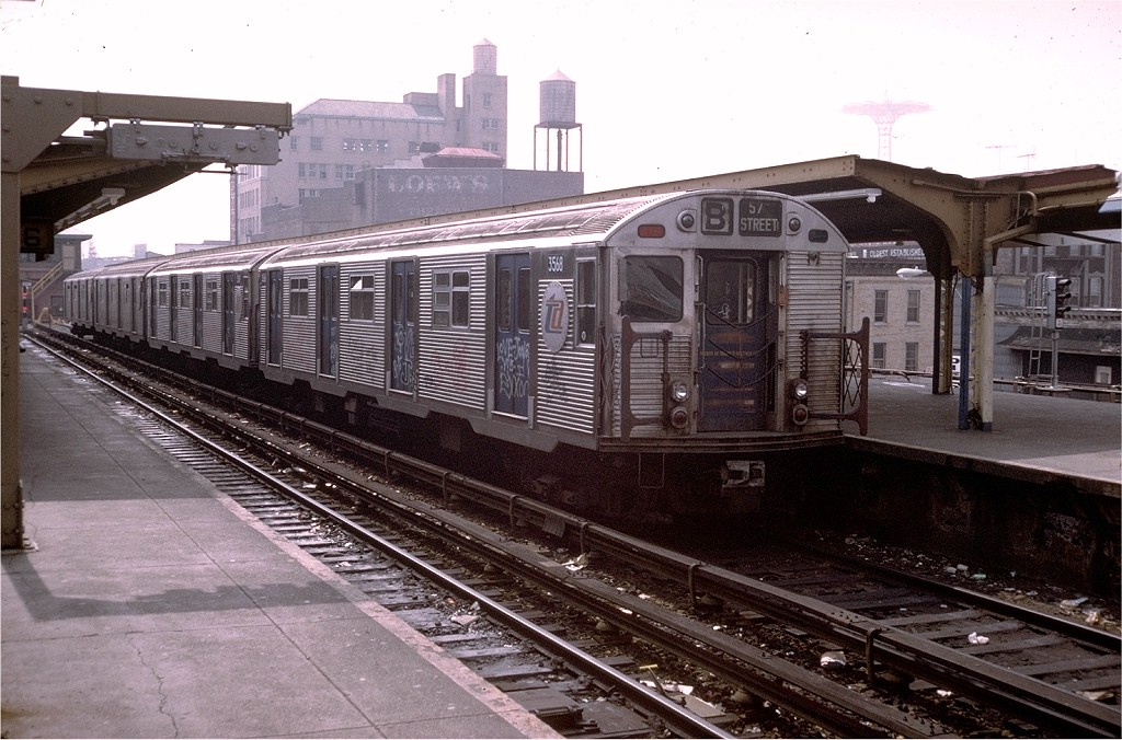(214k, 1024x676)<br><b>Country:</b> United States<br><b>City:</b> New York<br><b>System:</b> New York City Transit<br><b>Location:</b> Coney Island/Stillwell Avenue<br><b>Route:</b> B<br><b>Car:</b> R-32 (Budd, 1964)  3568 <br><b>Collection of:</b> Joe Testagrose<br><b>Date:</b> 3/31/1973<br><b>Viewed (this week/total):</b> 1 / 4732