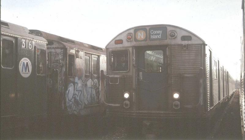 (40k, 800x459)<br><b>Country:</b> United States<br><b>City:</b> New York<br><b>System:</b> New York City Transit<br><b>Location:</b> Coney Island Yard<br><b>Car:</b> R-32 (Budd, 1964)  3588 <br><b>Photo by:</b> Glenn L. Rowe<br><b>Viewed (this week/total):</b> 0 / 4268