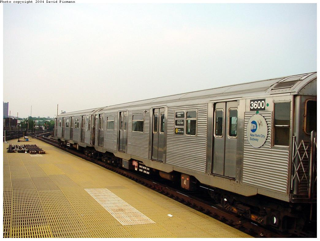 (126k, 1044x788)<br><b>Country:</b> United States<br><b>City:</b> New York<br><b>System:</b> New York City Transit<br><b>Location:</b> Coney Island/Stillwell Avenue<br><b>Route:</b> N<br><b>Car:</b> R-32 (Budd, 1964)  3600 <br><b>Photo by:</b> David Pirmann<br><b>Date:</b> 8/27/2000<br><b>Viewed (this week/total):</b> 0 / 3373