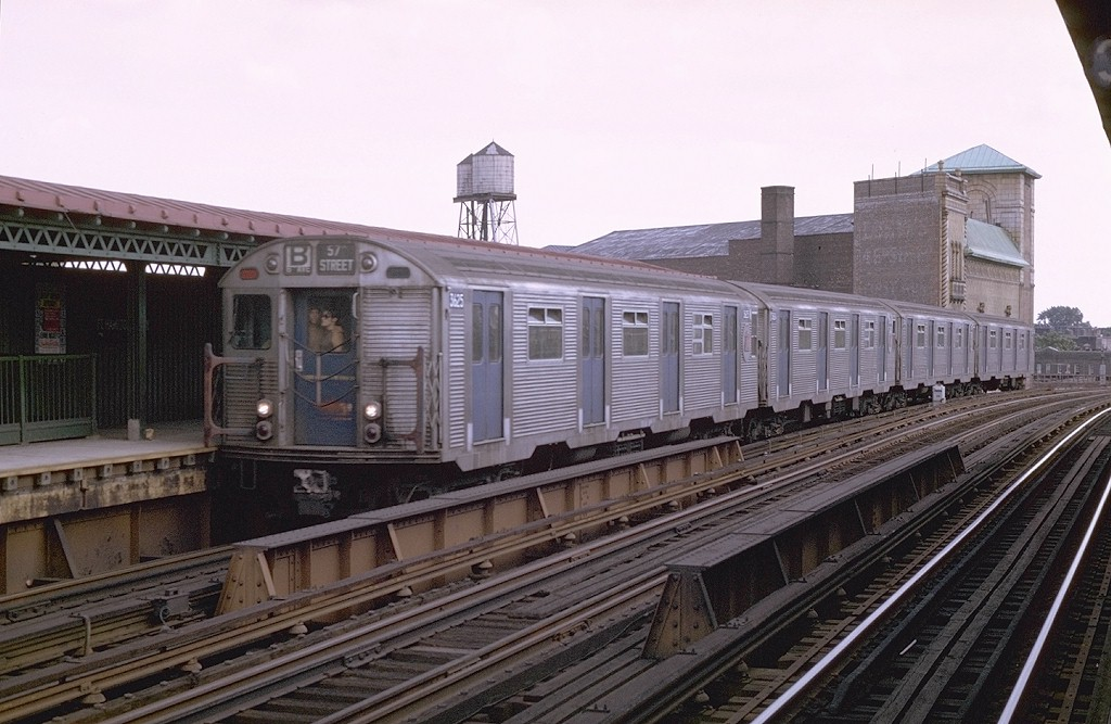(188k, 1024x667)<br><b>Country:</b> United States<br><b>City:</b> New York<br><b>System:</b> New York City Transit<br><b>Line:</b> BMT West End Line<br><b>Location:</b> Fort Hamilton Parkway <br><b>Route:</b> B<br><b>Car:</b> R-32 (Budd, 1964)  3625 <br><b>Photo by:</b> Joe Testagrose<br><b>Date:</b> 8/10/1969<br><b>Viewed (this week/total):</b> 3 / 5276