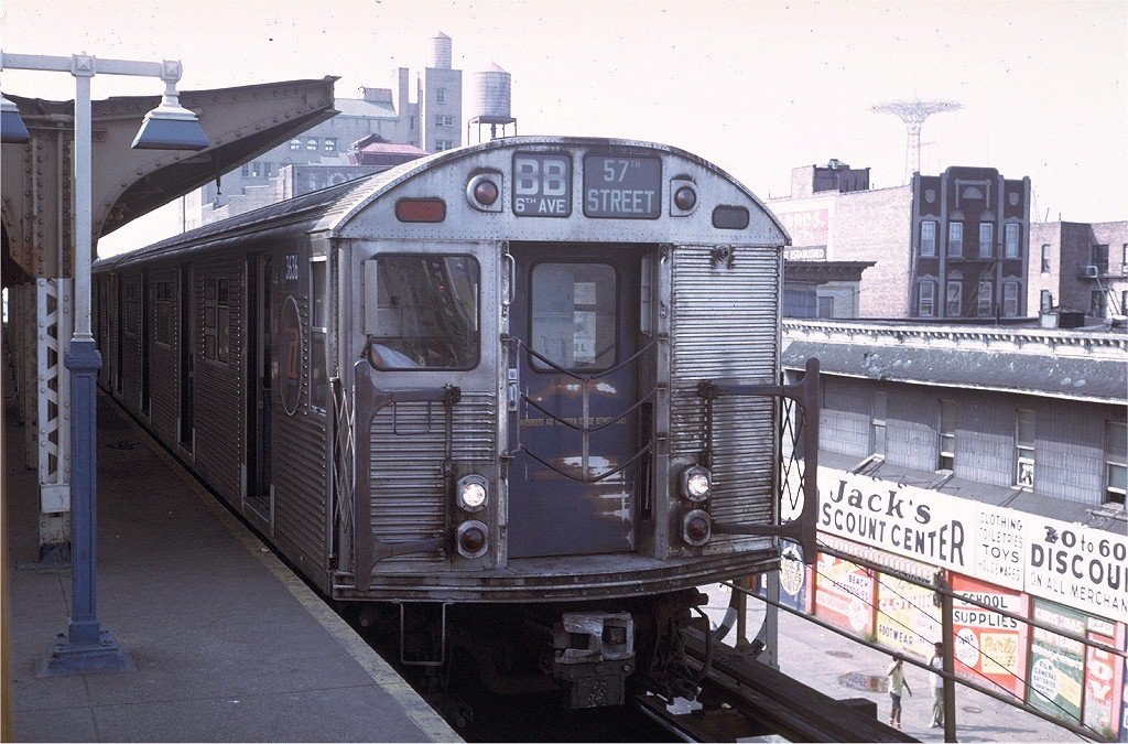 (221k, 1024x675)<br><b>Country:</b> United States<br><b>City:</b> New York<br><b>System:</b> New York City Transit<br><b>Location:</b> Coney Island/Stillwell Avenue<br><b>Route:</b> B<br><b>Car:</b> R-32 (Budd, 1964)  3636 <br><b>Collection of:</b> Joe Testagrose<br><b>Date:</b> 8/27/1972<br><b>Viewed (this week/total):</b> 17 / 3597