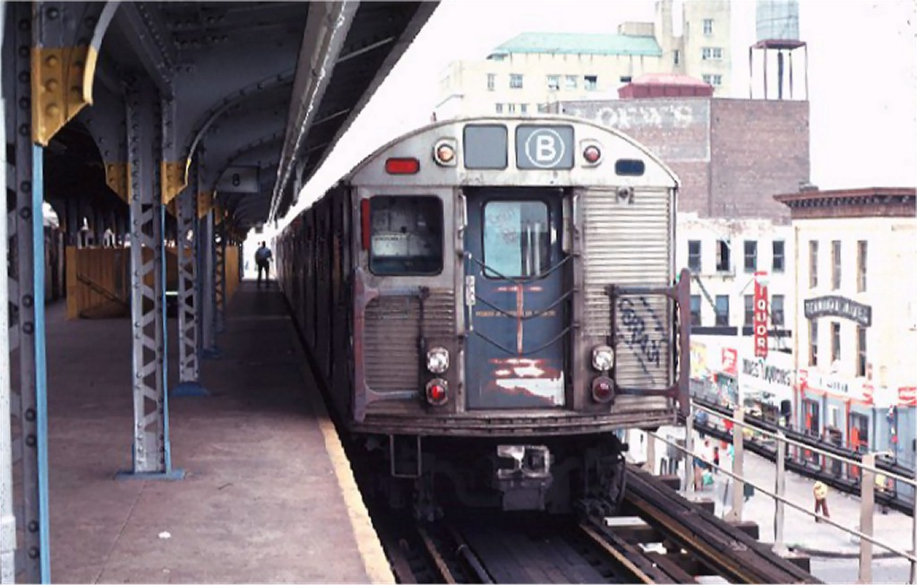 (156k, 1024x653)<br><b>Country:</b> United States<br><b>City:</b> New York<br><b>System:</b> New York City Transit<br><b>Location:</b> Coney Island/Stillwell Avenue<br><b>Route:</b> B<br><b>Car:</b> R-32 (Budd, 1964)  3638 <br><b>Photo by:</b> Ed McKernan<br><b>Collection of:</b> Joe Testagrose<br><b>Date:</b> 9/2/1974<br><b>Viewed (this week/total):</b> 2 / 5150