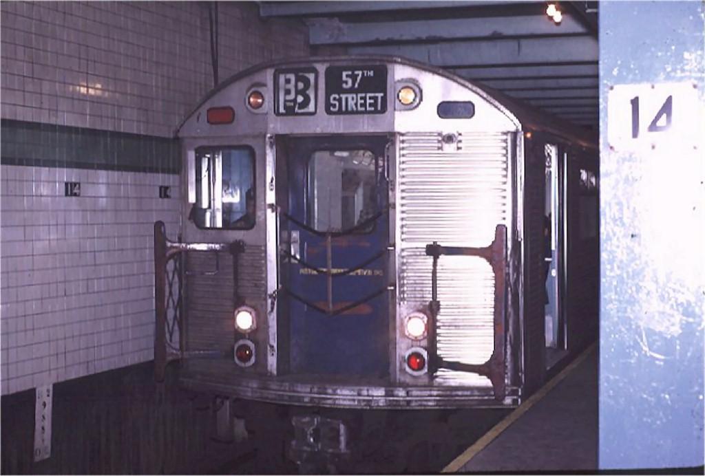 (135k, 1024x692)<br><b>Country:</b> United States<br><b>City:</b> New York<br><b>System:</b> New York City Transit<br><b>Line:</b> IND 6th Avenue Line<br><b>Location:</b> 14th Street <br><b>Route:</b> B<br><b>Car:</b> R-32 (Budd, 1964)  3647 <br><b>Photo by:</b> Joe Testagrose<br><b>Date:</b> 11/14/1970<br><b>Viewed (this week/total):</b> 3 / 4272