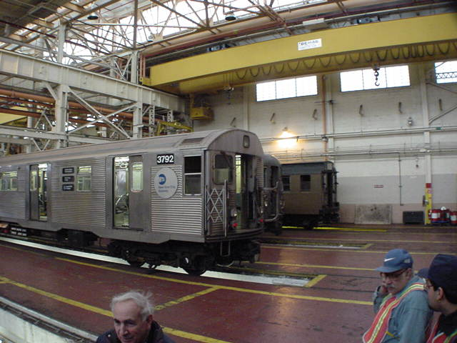 (59k, 640x480)<br><b>Country:</b> United States<br><b>City:</b> New York<br><b>System:</b> New York City Transit<br><b>Location:</b> Coney Island Shop/Overhaul & Repair Shop<br><b>Car:</b> R-32 (Budd, 1964)  3792 <br><b>Photo by:</b> Salaam Allah<br><b>Date:</b> 10/29/2000<br><b>Viewed (this week/total):</b> 0 / 3654