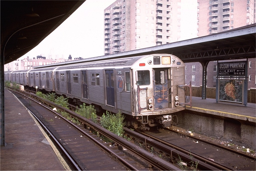 (238k, 1024x684)<br><b>Country:</b> United States<br><b>City:</b> New York<br><b>System:</b> New York City Transit<br><b>Line:</b> BMT Brighton Line<br><b>Location:</b> Ocean Parkway <br><b>Route:</b> D<br><b>Car:</b> R-32 (Budd, 1964)  3793 <br><b>Collection of:</b> Joe Testagrose<br><b>Date:</b> 6/21/1974<br><b>Viewed (this week/total):</b> 3 / 5592