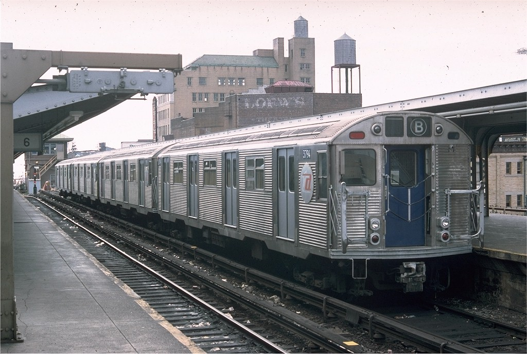 (207k, 1024x688)<br><b>Country:</b> United States<br><b>City:</b> New York<br><b>System:</b> New York City Transit<br><b>Location:</b> Coney Island/Stillwell Avenue<br><b>Route:</b> B<br><b>Car:</b> R-32 (Budd, 1964)  3794 <br><b>Photo by:</b> Doug Grotjahn<br><b>Collection of:</b> Joe Testagrose<br><b>Date:</b> 10/10/1976<br><b>Viewed (this week/total):</b> 6 / 4630