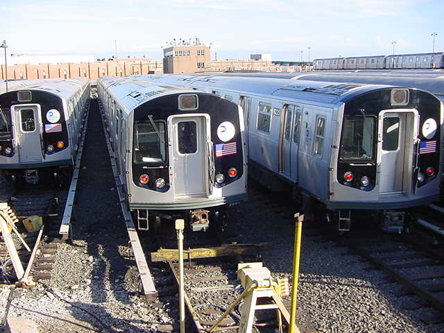 (60k, 640x480)<br><b>Country:</b> United States<br><b>City:</b> New York<br><b>System:</b> New York City Transit<br><b>Location:</b> East New York Yard/Shops<br><b>Car:</b> R-143 (Kawasaki, 2001-2002)  <br><b>Photo by:</b> Salaam Allah<br><b>Date:</b> 9/22/2002<br><b>Viewed (this week/total):</b> 0 / 4566