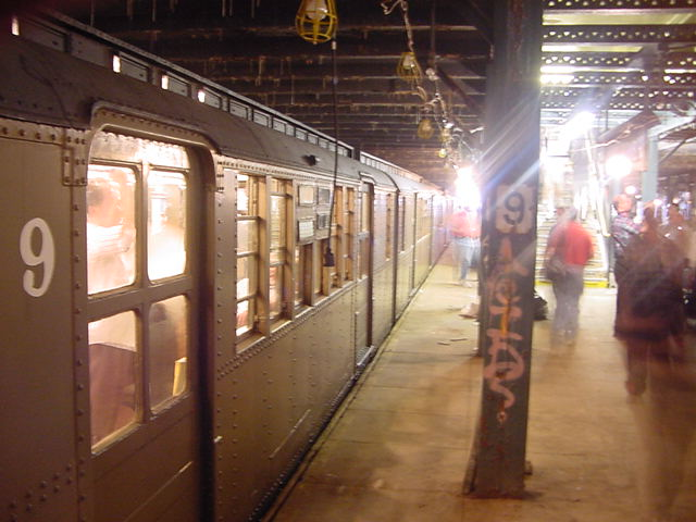 (60k, 640x480)<br><b>Country:</b> United States<br><b>City:</b> New York<br><b>System:</b> New York City Transit<br><b>Line:</b> BMT Culver Line<br><b>Location:</b> 9th Avenue (Lower Level) <br><b>Route:</b> Fan Trip<br><b>Car:</b> BMT D-Type Triplex 6019 <br><b>Photo by:</b> Salaam Allah<br><b>Date:</b> 9/22/2002<br><b>Viewed (this week/total):</b> 6 / 8280