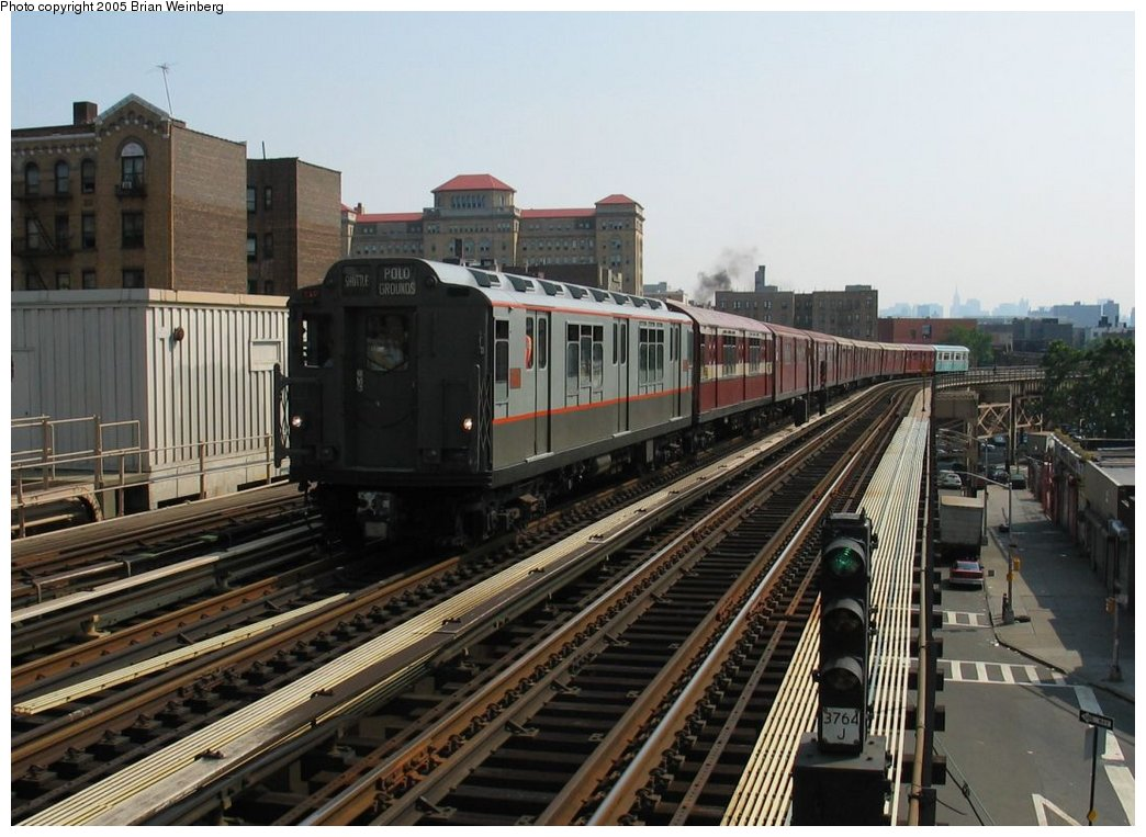 (164k, 1044x763)<br><b>Country:</b> United States<br><b>City:</b> New York<br><b>System:</b> New York City Transit<br><b>Line:</b> IRT Woodlawn Line<br><b>Location:</b> 170th Street <br><b>Route:</b> Fan Trip<br><b>Car:</b> R-12 (American Car & Foundry, 1948) 5760 <br><b>Photo by:</b> Brian Weinberg<br><b>Date:</b> 6/29/2003<br><b>Viewed (this week/total):</b> 0 / 2232