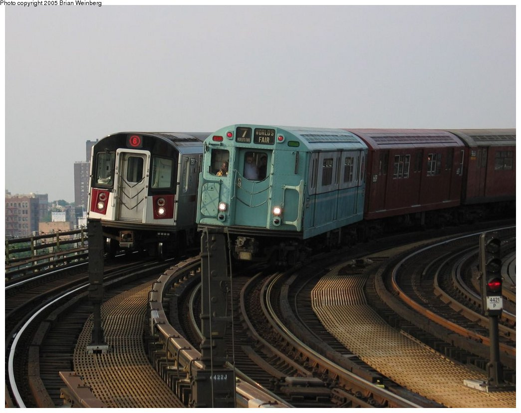 (142k, 1044x828)<br><b>Country:</b> United States<br><b>City:</b> New York<br><b>System:</b> New York City Transit<br><b>Line:</b> IRT Pelham Line<br><b>Location:</b> Whitlock Avenue <br><b>Route:</b> Fan Trip<br><b>Car:</b> R-33 World's Fair (St. Louis, 1963-64) 9306 <br><b>Photo by:</b> Brian Weinberg<br><b>Date:</b> 6/29/2003<br><b>Viewed (this week/total):</b> 1 / 3293
